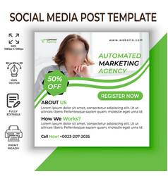 Digital business marketing social media post vector