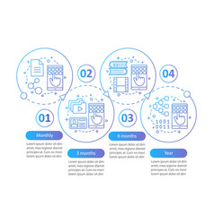 Digital services subscription infographic template vector