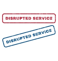 Disrupted service rubber stamps vector