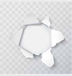Explosion paper hole vector