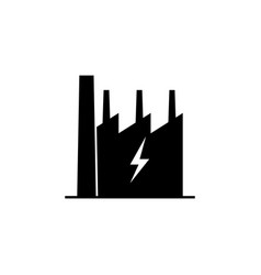 factory lightning icon on white background can vector image