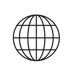 figure global internet digital service connect vector image