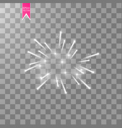 Firework lights effect with glowing stars in sky vector