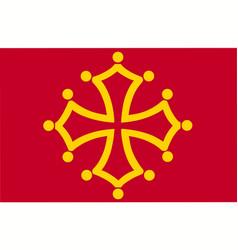 Flag midi pyrenees region france province vector