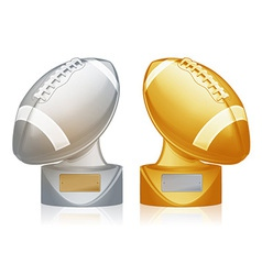 Football trophies vector