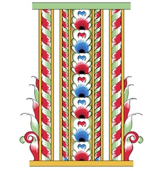 fragment of drawing orthodoxy pattern russia vector image