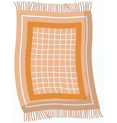 Fringed kitchen rug mat for setting table vector