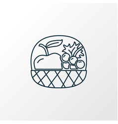 fruit basket icon line symbol premium quality vector image