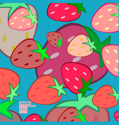 fruits pattern fruits seamless background vector image