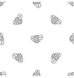 global chat pattern seamless vector image