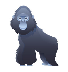 gorilla cute cartoon character vector image