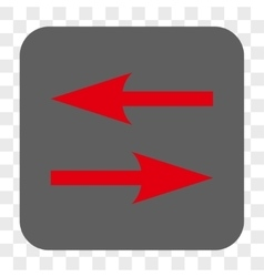 Horizontal Exchange Arrows Rounded Square Button vector