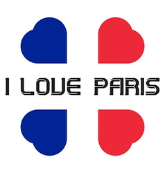 I love Paris t-shirt templates with hearts vector image