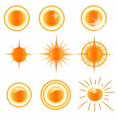 icons solar weather vector image vector image