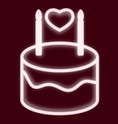 Image of a birthday cake vector