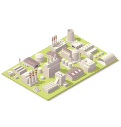 Isometric factory buildings vector image