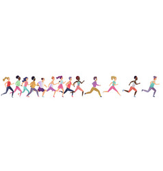 Jogging running people sport running group vector