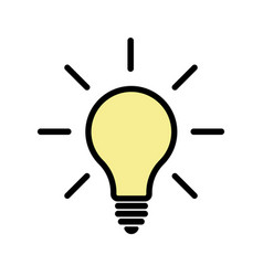 Light bulb icon eps 10 vector