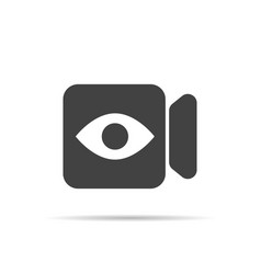live camera icon vector image