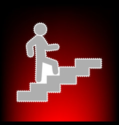 man on stairs going up vector image