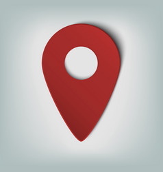 Map marker icon with an oval gradient in smooth vector