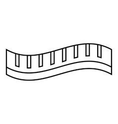 Measuring striped tape icon outline style vector image