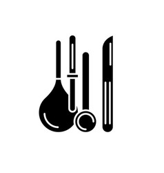 medical instruments black icon sign on vector image