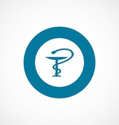 Medical sign bold blue border circle icon vector