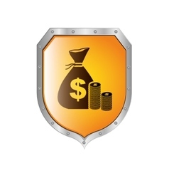 Money protection concept vector image