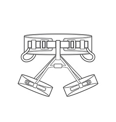 Outline alpinism equipment harness icon vector