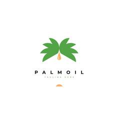palm oil logo design template vector image