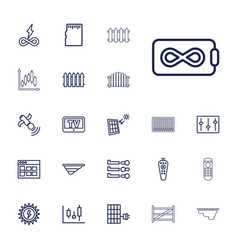 panel icons vector image