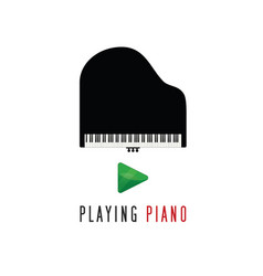 Piano playing icon vector