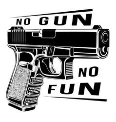 Pistol glock gun 9 caliber vector