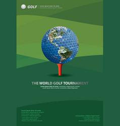 Poster golf vector