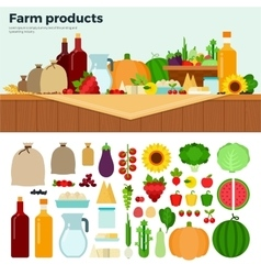 Products from the village vector image