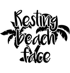 Resting beach face on white background vector