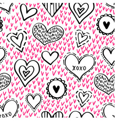 seamless hearts pattern-11 vector image