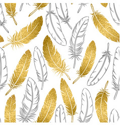 seamless pattern golden and hand-drawn vector image