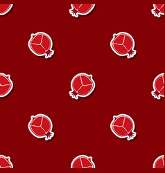 seamless pattern with pomergranate vector image