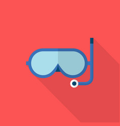 snorkle icon set of great flat icons with style vector image