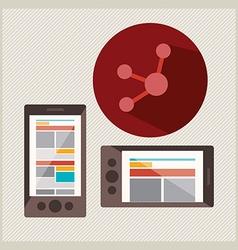 social network design vector image