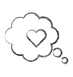 speech bubble with heart icon vector image