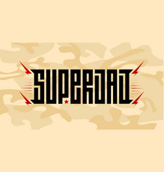 super dad - inscription on a camouflage vector image