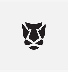 Tiger or line or leopard or cheetah head face vector