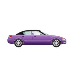 transport isolated violet classic automobile vector image
