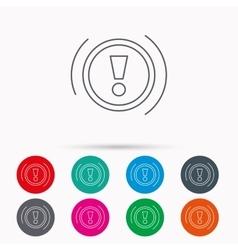 Warning icon Dashboard sign vector image