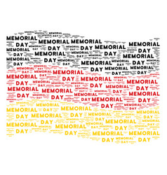 waving germany flag mosaic of memorial day text vector image