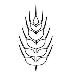 wheat food symbol vector image