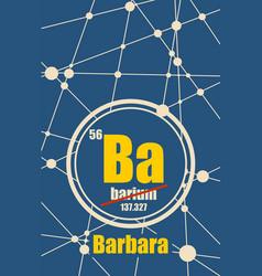 barbara female first name vector image